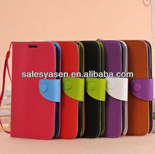 Wallet pouch leather case for samsung galaxy note 2