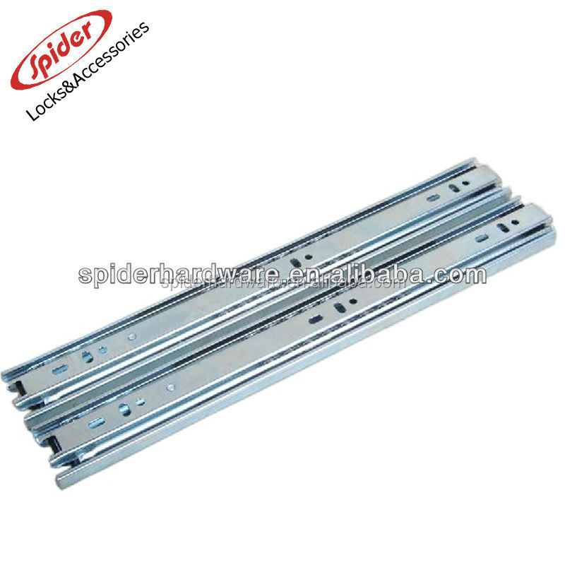 Full extension ball bearing telescopic slide rails for furniture