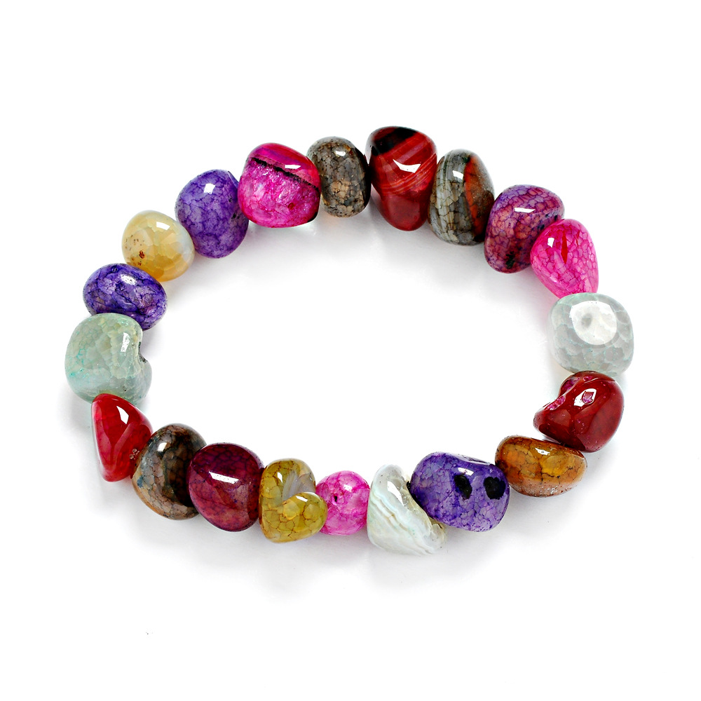 Unisex 7 Chakra Bracelet irregular shape agate Natural Bead Wholesale
