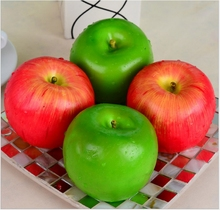 Festive supplies High Decorative Plastic Artificial Fruit Red Apple