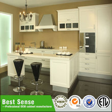 PVC kitchen door whole set cabinet with sinks and countertop