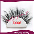Milkyway D006 3D mink lashes 100% real siberian mink fur tip fluffy false eyelashes thick crossing double layered strip lashes