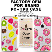 Doughnut case Custom you own design plastic cell phone cases for iphone 6 6s phone cover for samsung galaxy j7