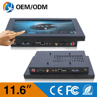intel d525 11.6 inch Wall Mount Touch Screen all-in-one Computer Best Selling Industrial Panel PC