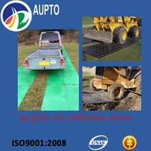 Ground protection mat / plastic road mats are suitable for use with heavy vehicles
