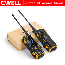 RUNBO X1 IP67 Waterproof Unlocked GSM Big battery VHF radio mobile phone with walkie talkie