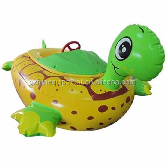 Water Games Inflatable Toy Boat Electric Tortoise Animal Bumper Boat.jpg
