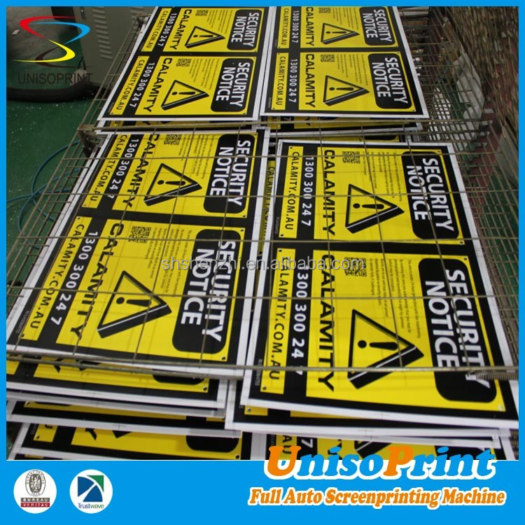 Corrugated pp material printing outdoor advertising plastic sign board
