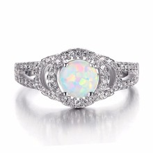 MASCOT New 925 Sterling Silver Ring Jewelry Wholesale Ring With Opal Stone