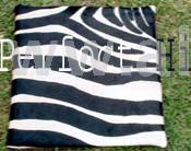 Zebra Printed Leather Pillow Cases