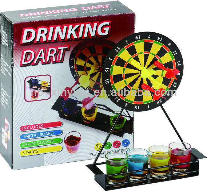 Tabletop Drinking Dart Game with Magnetic