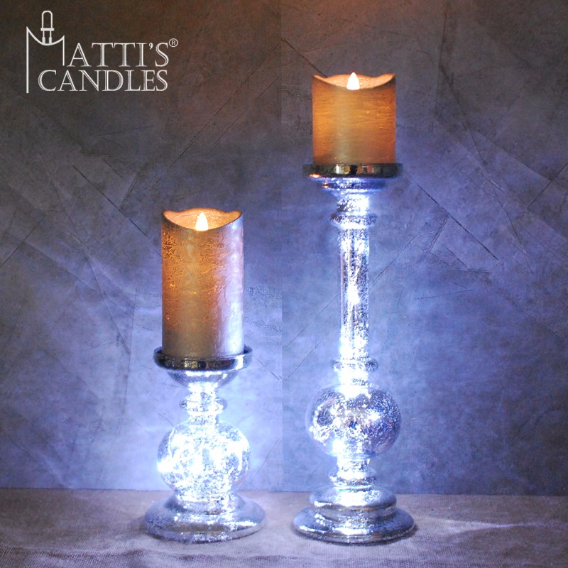 Matti's led glass tube candle holder/wholesale long-stemmed candle holder/long stem candle holder