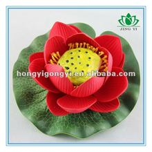 real touched artificial floating lotus flower with root