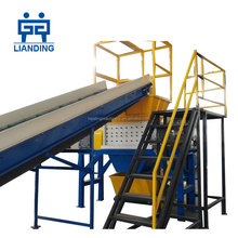 Large scale LDPE/HDPE film/sheet/flake/lump/board twin shaft shredder