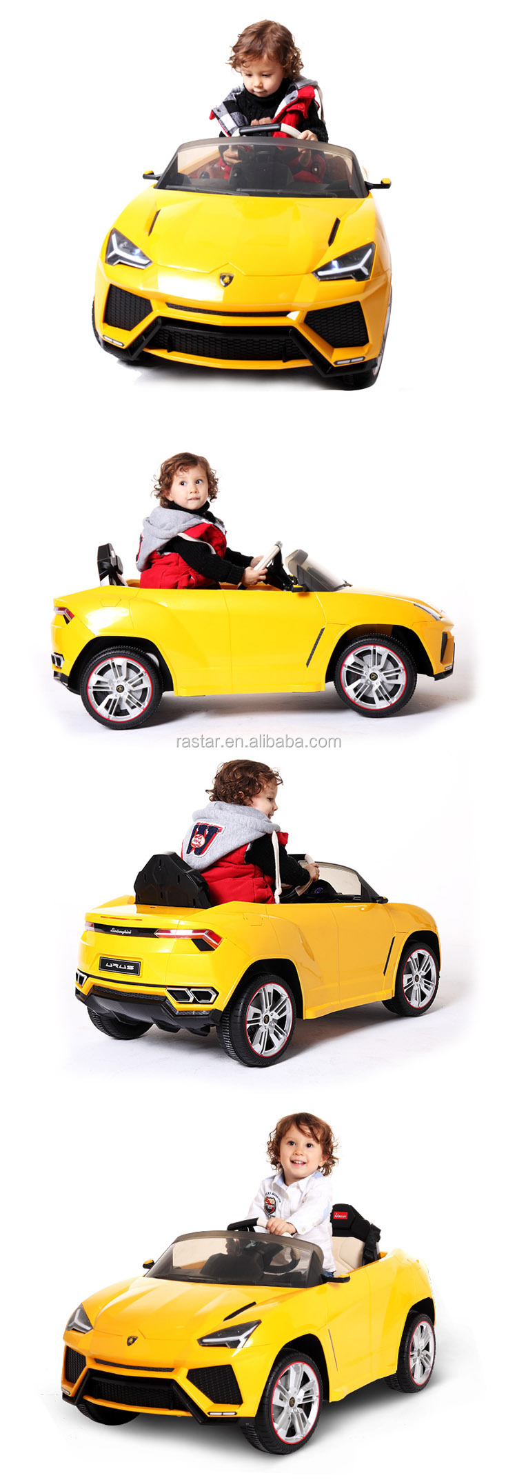 RASTAR plastic music toy electric kids lamborghini ride on car