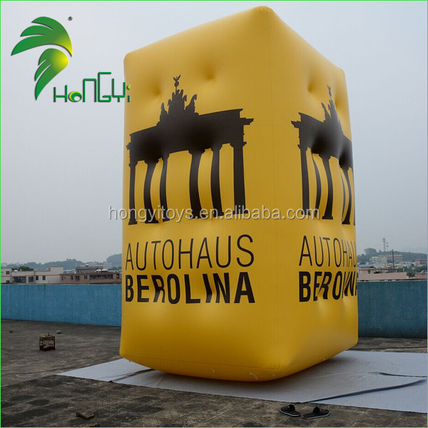 Popular Parade Adveritinsg Helium Inflatable Flying Rectangle Balloon With Logo