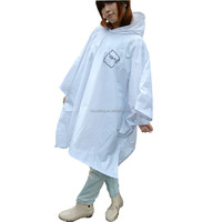 Cute Cartoon Ladies Hooded PVC Rain Poncho Outdoor Hiking Womens PVC Poncho
