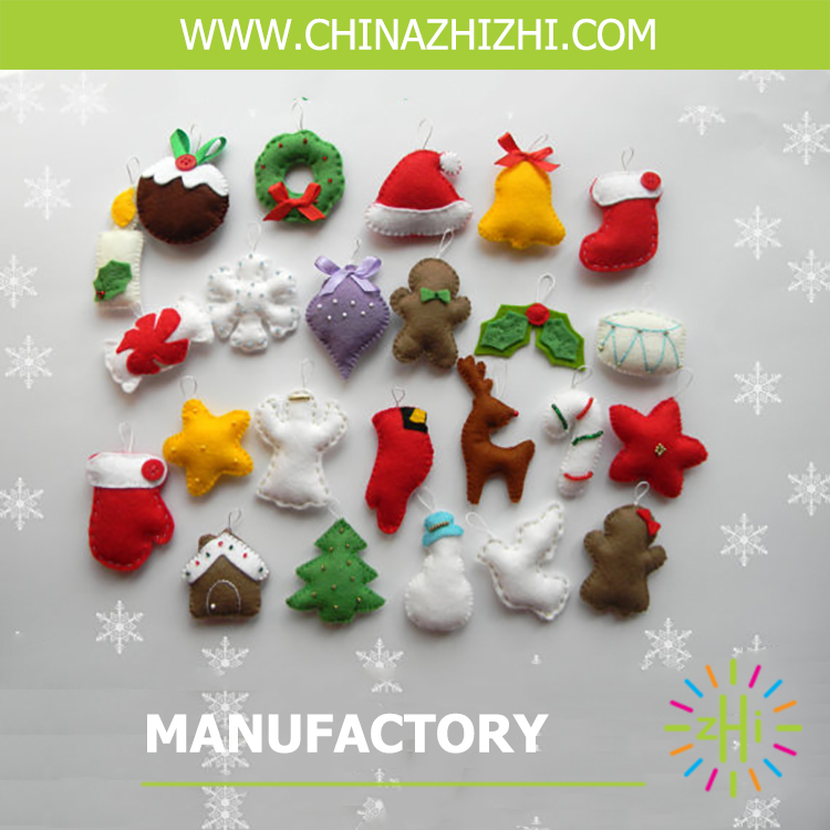 polyester felt christmas decorations With ISO9001 certificates