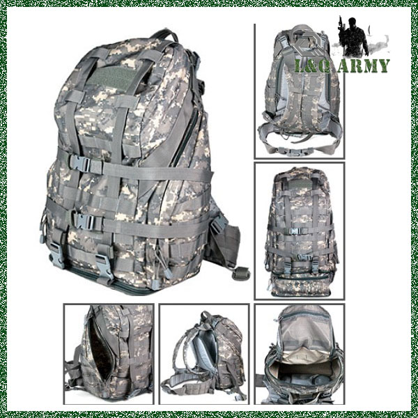 Tactical 3 Day Backpack Black
