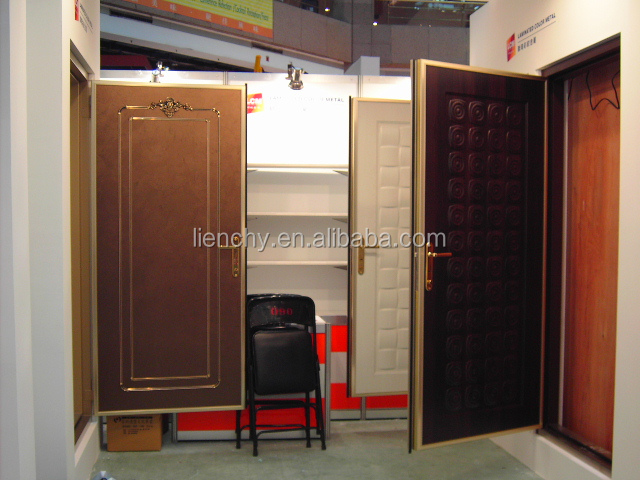 Wooden type films of Steel Material pvc lamination steel sheet for door skin