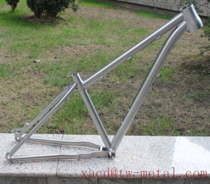 Titanium MTB bike frame with disc brake &142*12 dropouts OEM MTB bike frame Titanium 29er mountain bike frame
