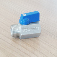 "1/4"" NPT Stainless Steel 316 Mini Ball Valve - FXM"