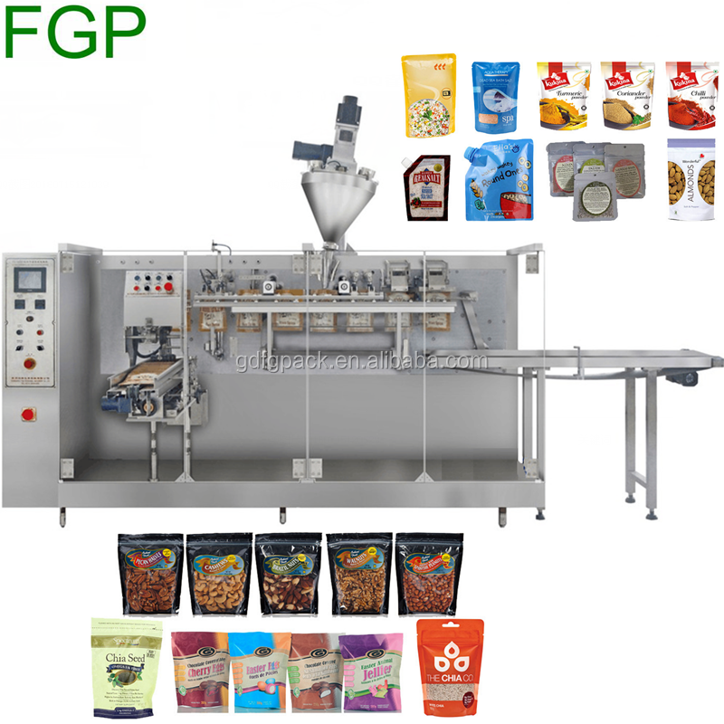 Hot Sale Horizontal/Rotary Automatic Premade Stand Up/Zipper Bag Packaging Machine