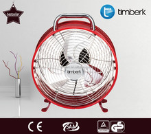 Clock shape metal strong wind desk fan
