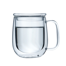 double wall clear glass mug without handle clear coffee mugs