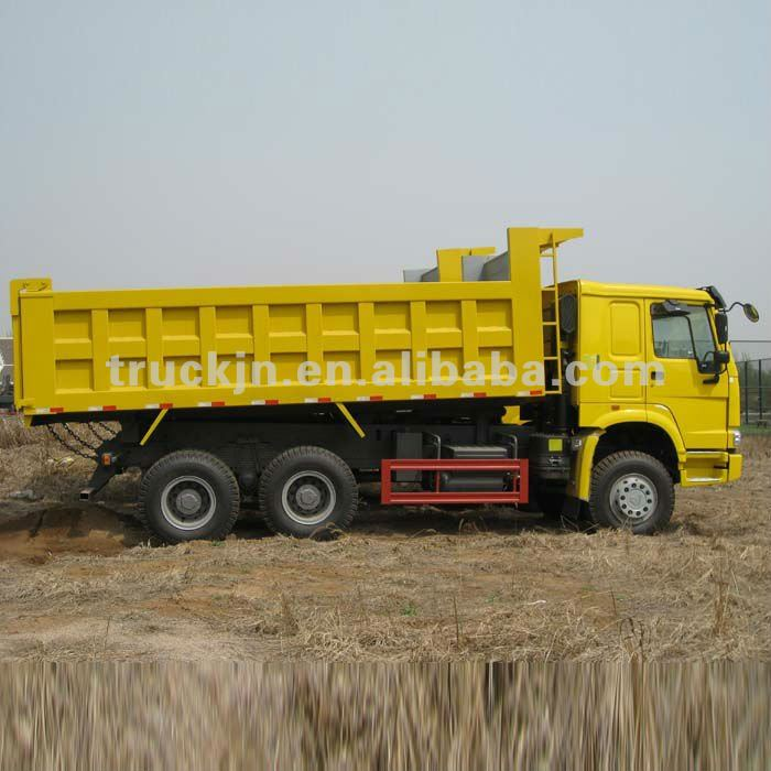 HOWO white dump lorry used trucks