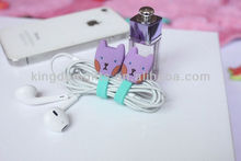 Newest Cartoon Cable Silicone earphone accessories