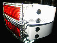 2016 digital programmable led belt buckle, Rhinestone Scrolling LED Belt Buckle for belt