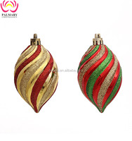 2016 Popular Spiral Pointed Christmas Hanging Decoration Set With Christmas Tree