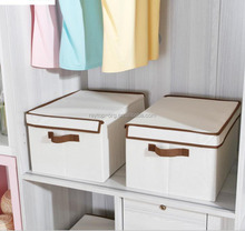 Hot selling wholesale cheap home canvas folding shoe fabric storage box