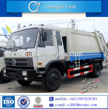 Dongfeng 4*2 small side loading garbage truck for sale in kenya,dubai