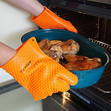Amazon top seller 2017 heat resistant microwave oven use silicone hand gloves