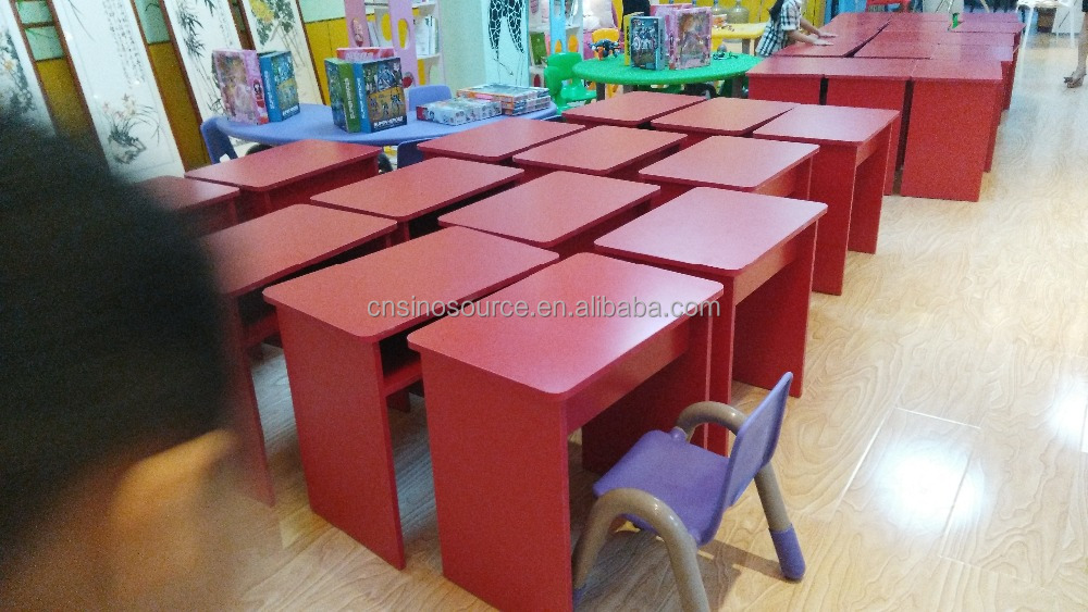 wholesale red school student desk,children study table and chair