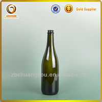 750ml champagne bottles/black bottles