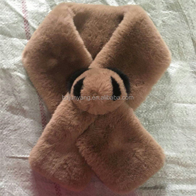 Custom different colors fur scarf for women
