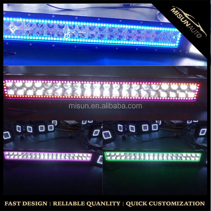 Auto LED driving light bars customized design size light bar with halos