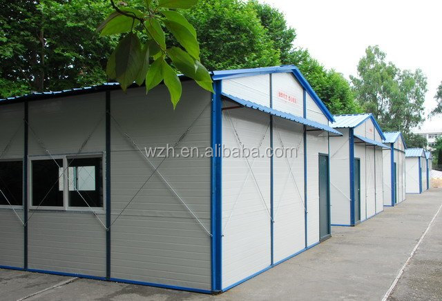 prefab house kits/portable apartments , office ,carport , workshop , warehouse , guard house by WZH