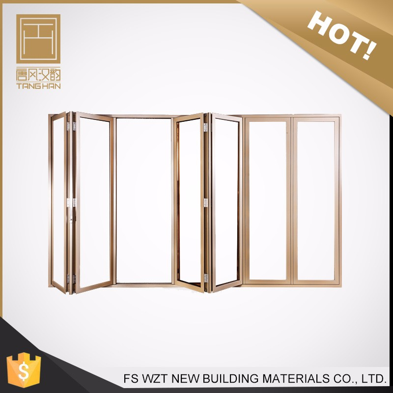 China supplier cheap metal aluminum glass exterior accordion doors