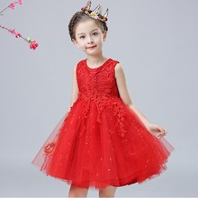 New Model Birthday Dress Pictures For Children Gown Hot Selling Girl Party Dress L-116LP