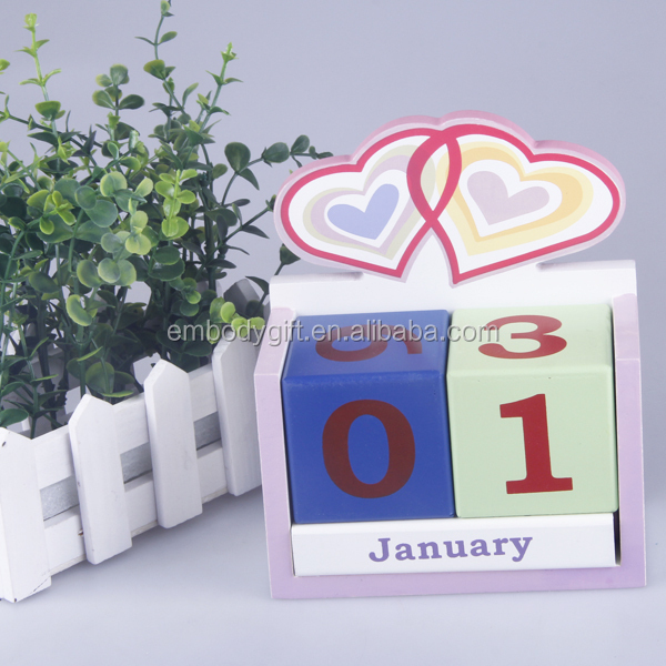 DIY wooden desktop perpetual custom advent calendar box