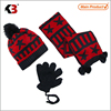 2015 knitted hat glove set hot sale in canada/beanie glove set/hat scarf glove set hot sale in usa