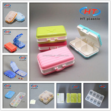 Wholesales For Promotion Customized Logo Plastic 7Days Free Pill Boxes/Weekly Pill Organizer/Pill Container