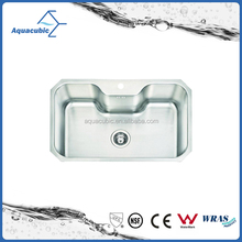 Single bowl stainless steel kitchen sinks for family used