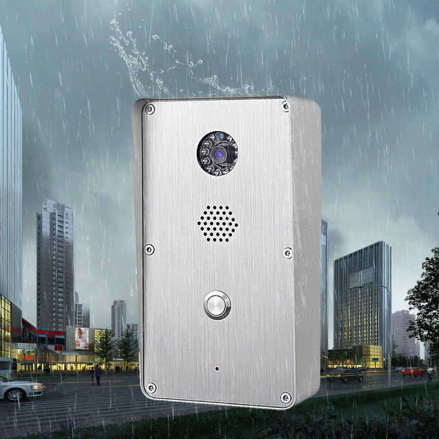 Push button wireless intercom for bank KNZD-47