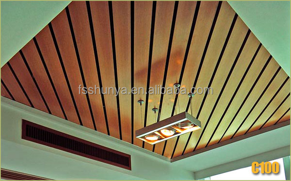 Eco wood plastic building material indoor cheap pvc ceiling board price