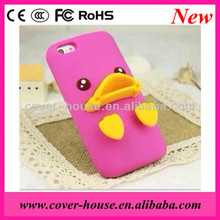 2013 Newest Cute Yellow Duck Silicone Case for iPhone 5G/4G/4S